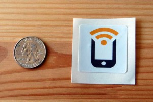 NFC-enabled sticker